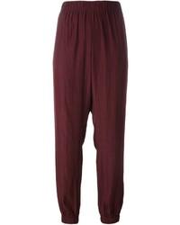 Pantalón de pinzas burdeos de Lanvin