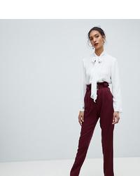 Pantalón de pinzas burdeos de Y.A.S Tall