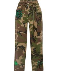 Pantalón de pinzas con adornos verde oliva de Marc Jacobs