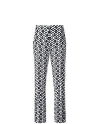 Pantalón de Pinzas Geométrico Negro de Derek Lam