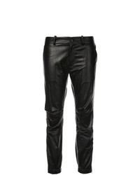 Pantalón de pinzas de cuero negro de Nili Lotan