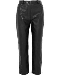 Pantalón de pinzas de cuero negro de Stella McCartney