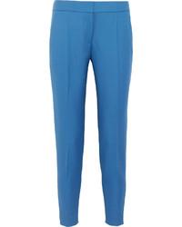 Pantalón de pinzas de lana azul de Stella McCartney