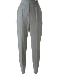 Pantalón de pinzas de lana gris de Lanvin