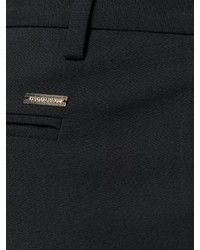 Pantalón de pinzas de lana negro de Dsquared2
