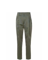 Pantalón de pinzas de rayas verticales azul de Etro