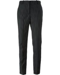 Pantalón de pinzas de rayas verticales negro de Givenchy