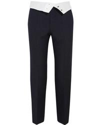Pantalón de pinzas de rayas verticales negro de Joseph