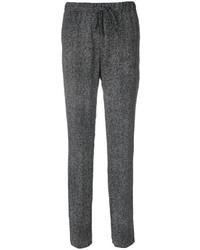 Pantalón de pinzas de seda negro de Jil Sander