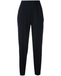 Pantalón de pinzas de terciopelo negro de Christopher Kane