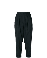 Pantalón de pinzas en gris oscuro de MM6 MAISON MARGIELA