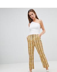 Pantalón de pinzas estampado amarillo de ASOS DESIGN