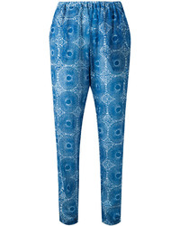 Pantalón de pinzas estampado azul de Lemlem