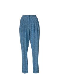 Pantalón de pinzas estampado azul de Philosophy di Lorenzo Serafini