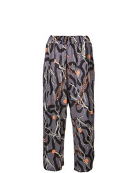 Pantalón de pinzas estampado en gris oscuro de Henrik Vibskov