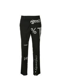 Pantalón de pinzas estampado en negro y blanco de Comme Des Garçons Vintage