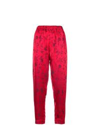 Pantalón de pinzas estampado rojo de Forte Forte