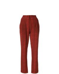 Pantalón de pinzas estampado rojo de Philosophy di Lorenzo Serafini