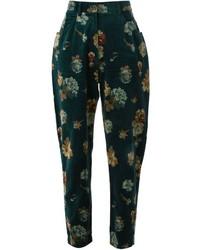 Pantalón de pinzas estampado verde oscuro de Kenzo