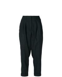 Pantalón de Pinzas Gris Oscuro de MM6 MAISON MARGIELA
