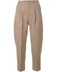 Pantalón de pinzas marrón claro de Le Ciel Bleu