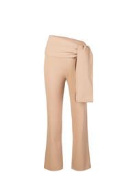 Pantalón de pinzas marrón claro de Romeo Gigli Vintage