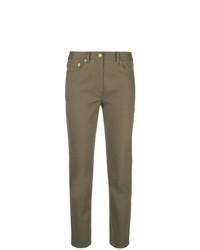 Pantalón de pinzas marrón de Tory Burch