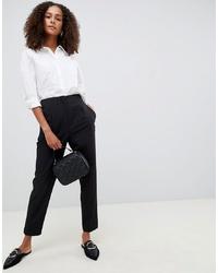 Pantalón de pinzas negro de ASOS DESIGN