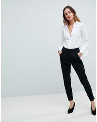 Pantalón de pinzas negro de Y.a.s