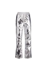 Pantalón de pinzas plateado de MM6 MAISON MARGIELA