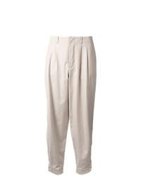 Pantalón de pinzas plisado en beige de Nehera