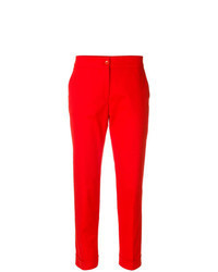 Pantalón de pinzas rojo