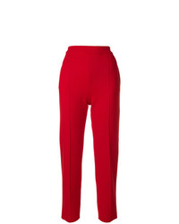 Pantalón de pinzas rojo de Sonia Rykiel