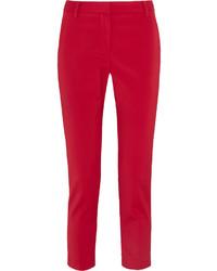 Pantalón de pinzas rojo de Tibi