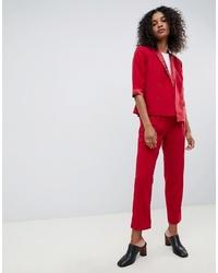 Pantalón de pinzas rojo de UNIQUE21