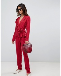 Pantalón de pinzas rojo de Vila