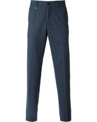 Pantalón de vestir a cuadros azul marino