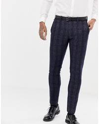 Pantalón de vestir a cuadros azul marino de Antony Morato