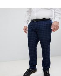 Pantalón de vestir a cuadros azul marino de Farah Smart