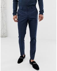Pantalón de vestir a cuadros azul marino de Jack & Jones