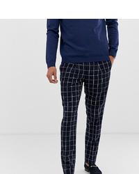 Pantalón de vestir a cuadros azul marino de Noak