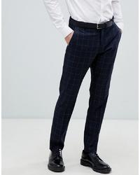 Pantalón de vestir a cuadros azul marino de Selected Homme