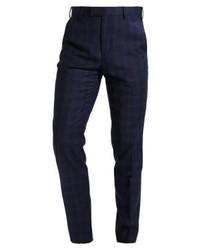 Pantalón de Vestir a Cuadros Azul Marino de Ted Baker