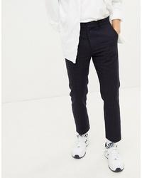 Pantalón de vestir a cuadros azul marino de Weekday