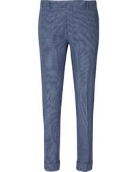 Pantalón de vestir a cuadros azul de Gant