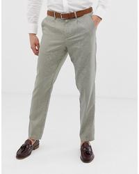 Pantalón de vestir a cuadros en beige de Selected Homme