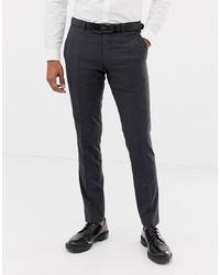Pantalón de vestir a cuadros en gris oscuro de Esprit