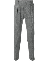 Pantalón de vestir a cuadros en negro y blanco de Paul Smith