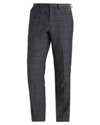Pantalón de Vestir a Cuadros Gris Oscuro de Burton Menswear London