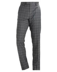Pantalón de Vestir a Cuadros Gris Oscuro de Ted Baker